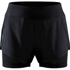 Craft ADV Essence 2-i-1 shorts Damer, sort